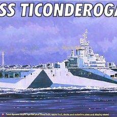 Maquetas: MAQUETA TRUMPETER 1/700 USS TICONDEROGA CV-14 #05736. Lote 138701570
