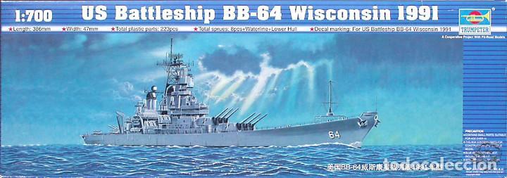 MAQUETA TRUMPETER 1/700 USS WISCONSIN BB-64 '1991' #05706 (Juguetes - Modelismo y Radiocontrol - Maquetas - Barcos)