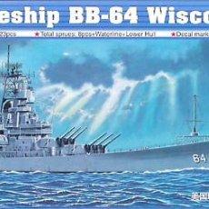 Maquetas: MAQUETA TRUMPETER 1/700 USS WISCONSIN BB-64 '1991' #05706. Lote 138705970