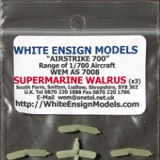 Maquetas: MAQUETA WHITE ENSIGN MODELS 1/700 SUPERMARINE WALRUS #AS 7008. Lote 138714790