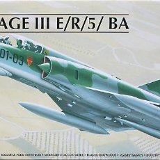 Maquetas: MAQUETA HELLER 1/72 AMD MIRAGE IIIE/R/5BA - 1999 #80323 - SIN CAJA. Lote 218849046