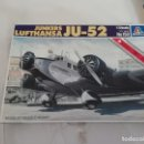 Maquetas: ITALERI JUNKERS 52 LUFTHANSA JU-52 1/72 MAQUETA NUEVO. Lote 138844762