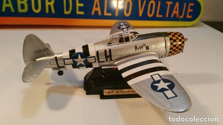 MAQUETA AVION - P 47 THUNDERBOLT USA MAGGIE V - EN METAL ALUMINIO ESCALA 1.48 (Juguetes - Modelismo y Radio Control - Maquetas - Aviones y Helicópteros)
