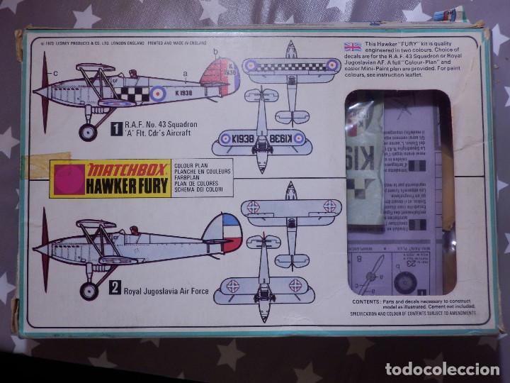 Maquetas: Maqueta de avión a escala - 1/72 - Hawker Fury - Matchbox - - Foto 3 - 139593774