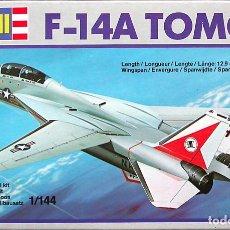 Maquetas: MAQUETA REVELL 1/144 GRUMMAN F-14A TOMCAT #4004 . Lote 139652890