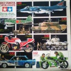 Maquetas: CATÁLOGO TAMIYA 1983 YAMAHA HONDA KAWASAKI SUZUKI DATSUN PORSCHE TOYOTA RENAULT 5 TURBO PRECIOSAS IM. Lote 139932142