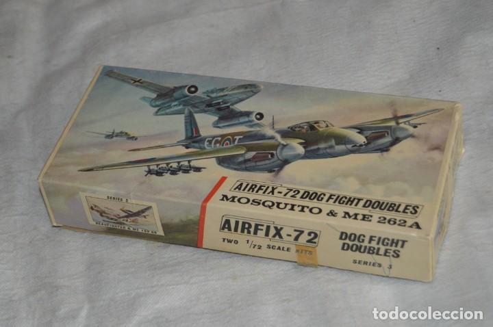 VINTAGE - AIRFIX - ANTIGUA MAQUETA AIRFIX 72 - ME 262A Y MOSQUITO - DOG FIGHT DOUBLES - ENVÍO 24H (Juguetes - Modelismo y Radio Control - Maquetas - Aviones y Helicópteros)