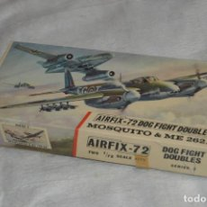 Maquetas: VINTAGE - AIRFIX - ANTIGUA MAQUETA AIRFIX 72 - ME 262A Y MOSQUITO - DOG FIGHT DOUBLES - ENVÍO 24H. Lote 140035710