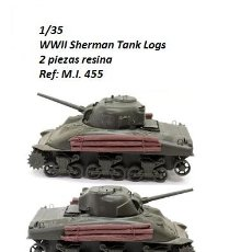 Maquetas: WWII RESINA 1/35 SHERMAN TANK LOGS 2 PIEZAS ACCESORIOS DIORAMA. Lote 140582946