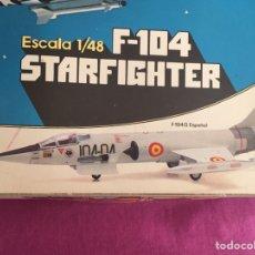 Maquetas: F-104 G STARFIGHTER CALCAS ESPAÑOLAS 1:48 REVELL MAQUETA AVIÓN EJÉRCITO DEL AIRE. Lote 140764948
