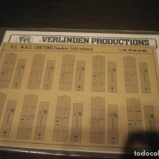 Maquetas: VERLINDEN, 1/35 U.S. M.R.E. CARTONS (MODERN FIELD RATIONS). Lote 141514078