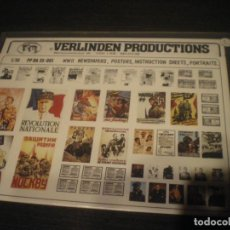 Maquetas: VERLINDEN, 1/35 NEWAPAPERS, POSTERS, INSTRUCTION SHEETS, PORTRAITS. Lote 141514770