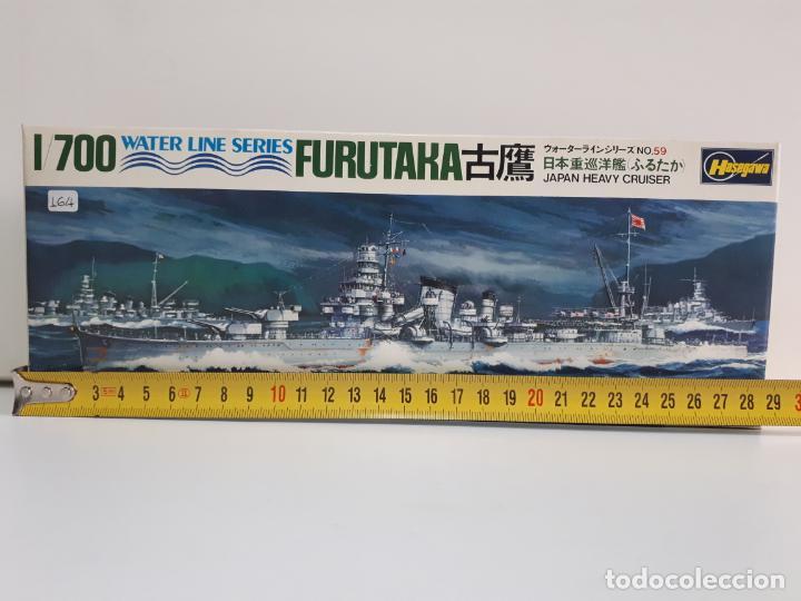 Maquetas: MAQUETA BARCO FURUTAKA JAPAN HEAVY CRUISER ESCALA 1 / 700 HASEGAWA WATER LINE SERIES WL C059 NUEVA - Foto 3 - 141805574