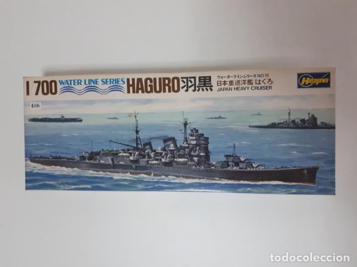 MAQUETA BARCO HAGURO JAPAN HEAVY CRUISER ESCALA 1 / 700 HASEGAWA WATER LINE SERIES WL C018 NUEVA (Juguetes - Modelismo y Radiocontrol - Maquetas - Barcos)