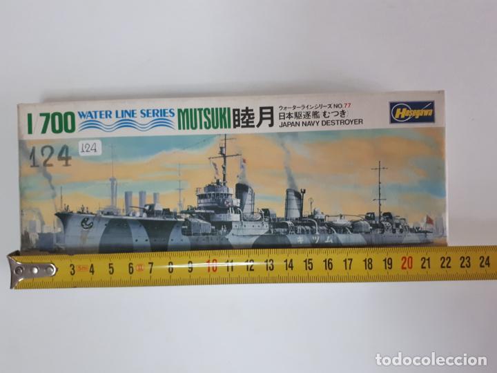 Maquetas: MAQUETA BARCO MUTSUKI JAPAN NAVY DESTROYER ESCALA 1 / 700 HASEGAWA WATER LINE SERIES WL D077 NUEVA - Foto 3 - 141817278