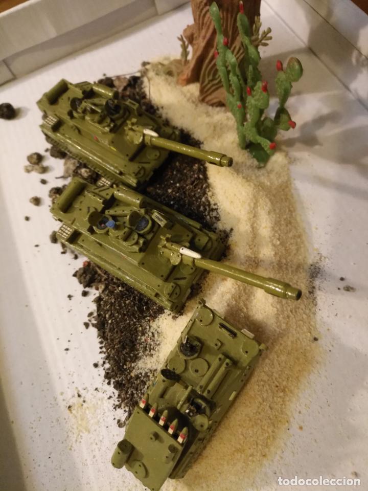 Maquetas: 3 maquetas hechas a mano militar 2 tanques y 1 bombardero para realizar dioramas guerra militaria - Foto 2 - 141833822