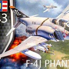 Maquetas: MAQUETA DEL CAZABOMBARDERO MCDONNELL DOUGLAS F-4J PHANTOM (US NAVY) DE REVELL A 1/72. Lote 142300046