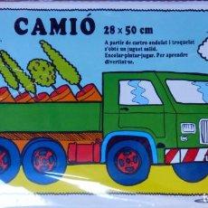 Maquetas: CAMIÓN PARA COLOREAR Y MONTAR CARTÓN ONDULADO TRQUELADO. Lote 142682026