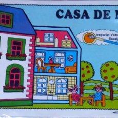 Maquetas: CASA DE MUÑECAS PARA COLOREAR Y MONTAR EN CARTÓN ONDULADO Y TROQUELADO. Lote 142691650
