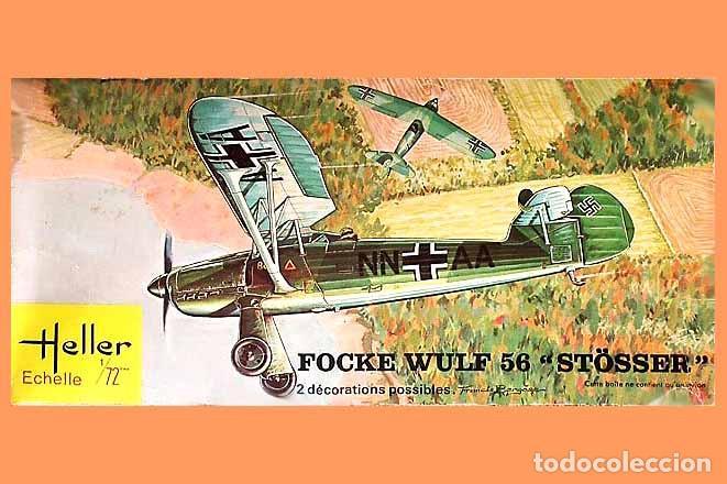 MAQUETA DE LA AVIONETA FOCKE WULF FW 56 STÖSSER DE HELLER A 1/72 (VINTAGE) (Juguetes - Modelismo y Radio Control - Maquetas - Aviones y Helicópteros)