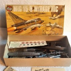 Maquetas: MIG 15 MIRAGE IIIC DOGFIGHT DOUBLE - ESCALA 1/72 - EN CAJA ORIGINAL . Lote 142792390