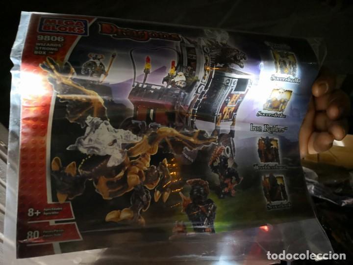Maquetas: Mega Bloks Dragons Carreta Con 4 FIGURAS sin uso. Caja defectuosa. Wizards modelo 9806 - Foto 2 - 142924390