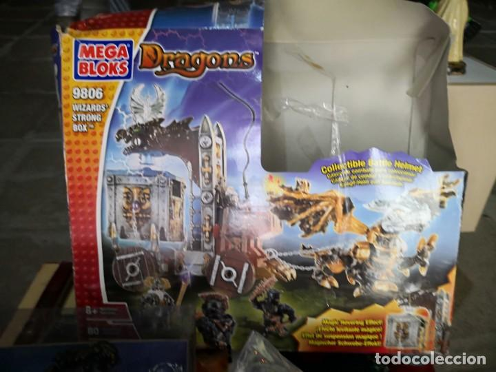 Maquetas: Mega Bloks Dragons Carreta Con 4 FIGURAS sin uso. Caja defectuosa. Wizards modelo 9806 - Foto 4 - 142924390