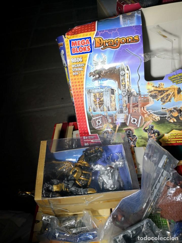 Maquetas: Mega Bloks Dragons Carreta Con 4 FIGURAS sin uso. Caja defectuosa. Wizards modelo 9806 - Foto 9 - 142924390