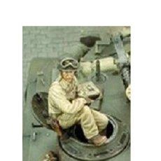 Maquetas: WWII TRIPULACION 1/35 AFV TANK CREW SHERMAN 1 FIGURA RESINA ACCESORIOS DIORAMA. Lote 143010426