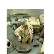 Maquetas: WWII TRIPULACION 1/35 AFV TANK CREW SHERMAN 1 FIGURA RESINA ACCESORIOS DIORAMA. Lote 143010550