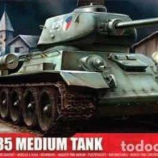 Maquetas: MAQUETA DEL CARRO DE COMBATE MEDIO SOVIÉTICO T-34/85 DE AIRFIX A 1/76. Lote 143397118