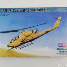 Maquetas: AH-1F COBRA ATTACK HELICOPTERO ESCALA 1/72 HOBBY BOSS 87224. Lote 143631958