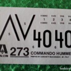 Maquetas: CALCAS DECORACION COMMANDO HUMMER – ITALERI. Lote 144127494