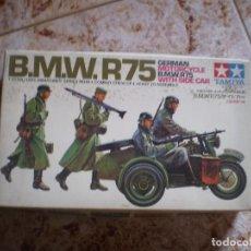 Maquetas: MAQUETA ANTIGUA BMW R75. TAMIYA. PAQUETES PIEZAS SIN ABRIR. ENVIO CERTIFICADO A ESPAÑA 5 EUROS.. Lote 144204070