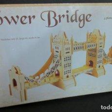 Maquetas: MAQUETA TOWER BRIDGE MAQUETAS DE MADERA 4 PLANCHAS SIN DESPRECINTAR. Lote 144363490