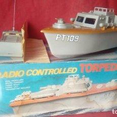 Maquetas: VINTAGE RADIO CONTROL MODEL NO.7723 TORPEDO BOAT PT 109 MADEN IN JAPAN . Lote 144603018