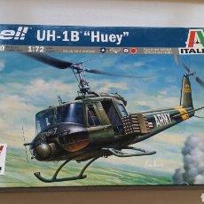 Maquetas: ITALERI MAQUETA HELICÓPTERO BELL UH 1B HUEY ESCALA 1:72 N°040. Lote 144619012