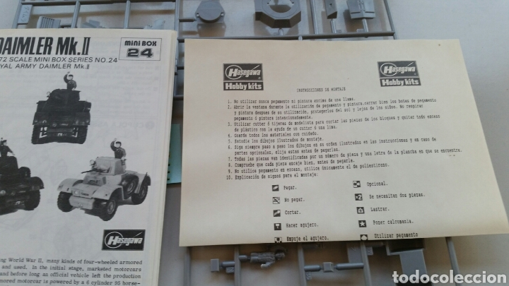 Maquetas: Maqueta hasegawa escala 1:72 armoured car Daimler mk.II - Foto 6 - 144620714