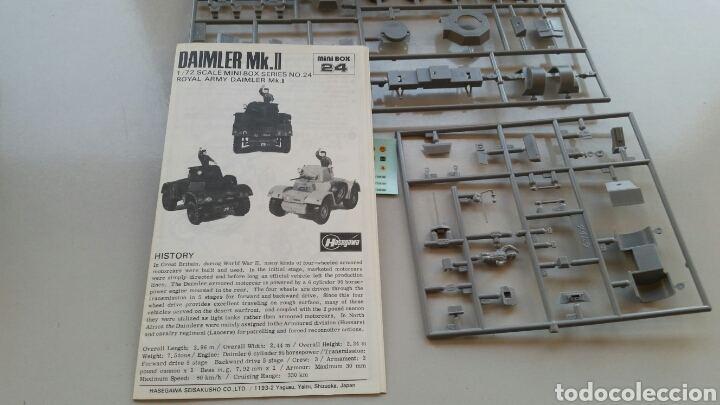 Maquetas: Maqueta hasegawa escala 1:72 armoured car Daimler mk.II - Foto 7 - 144620714