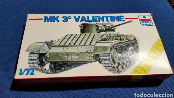 Maquetas: Maqueta tanque mk 3 valentine esci ertl escala 1:72 - Foto 2 - 144636373