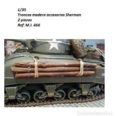 Maquetas: WWII TRONCOS MADERA 1/35 ACCESORIOS SHERMAN RESINA 2 PIEZAS. Lote 144803754