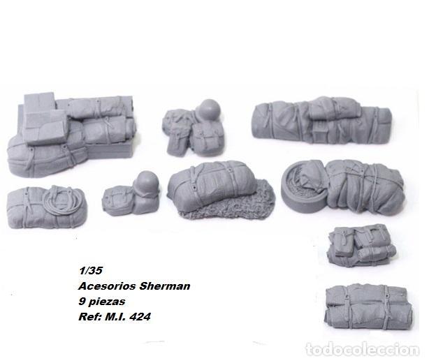 WWII ACCESORIOS SHERMAN CUBIERTA ESTIBA 1/35 RESINA 9 PIEZAS (Juguetes - Modelismo y Radiocontrol - Maquetas - Militar)
