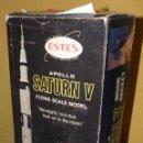 Maquetas: COHETE ESPACIAL APOLLO SATURN V. FLYING SCALE MODEL. NASA 1969. MAQUETA ESTES COHETE AÑOS 70.. Lote 159486669