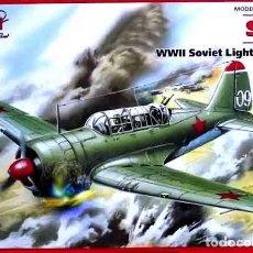 Maquetas: MAQUETA DEL BOMBARDERO LIGERO SOVIÉTICO SUJOI SU-2 DE ICM A ESCALA 1/72. Lote 145533146