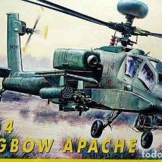Maquetas: MAQUETA DEL HELICOPTERO DE ATAQUE BOEING AH-64 APACHE LONGBOW DE ITALERI A 1/72 (OCASIÓN). Lote 145533366