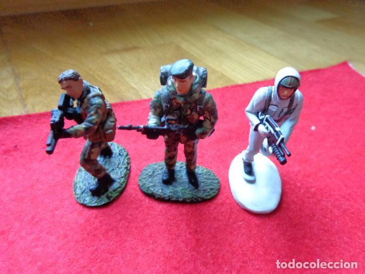 ¡¡¡ LOTE DE 3 SOLDADOS DE PLOMO FRANCIA Y UK !!! (Juguetes - Modelismo y Radiocontrol - Maquetas - Militar)