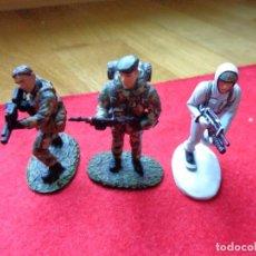 Maquetas: ¡¡¡ LOTE DE 3 SOLDADOS DE PLOMO FRANCIA Y UK !!!. Lote 146063862