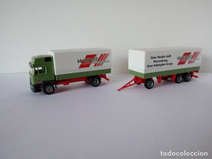 1 87 Herpa Camion Con Carro Man Wandt Usado Comprar Maquetas A