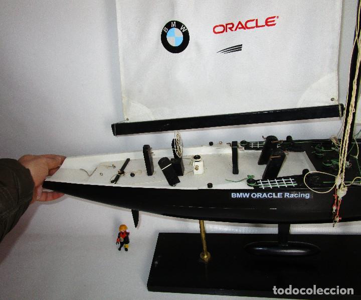 Maquetas: ENORME 135X0,92CM BARCO COPA AMERICA BMW ORACLE USA 76 MADERA Y TELA - Foto 6 - 147031606