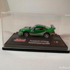 Maquetas: SCHUCO PORCHE 911 GT3 SUPER CUP Nº 2 1:87 ( 2005). Lote 147240490